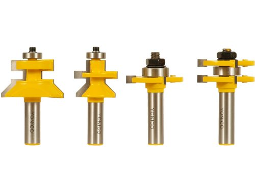 Yonico 15423 Flooring 4 Bit Tongue and Groove Router Bit Set 1/2-Inch Shank by Yonico