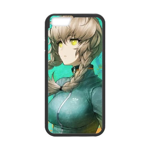 Steins Gate coque iPhone 6 Plus 5.5 Inch cellulaire cas coque de téléphone cas téléphone cellulaire noir couvercle EEECBCAAN01542