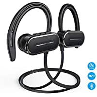 HSPRO Bluetooth Wireless Sports Earbuds with 8GB Built-in Memory MP3 Player