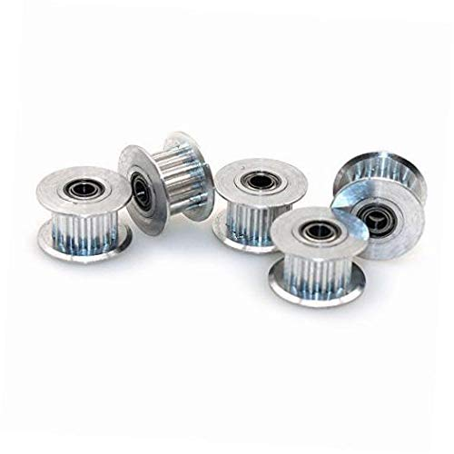 BALITENSEN 5pcs Toothed GT2 Idler Pulley 16 Teeth 3mm Bore for 3D Printer 6mm Width Timing Belt (Pack of 5) (Bore 3mm, Toothed)