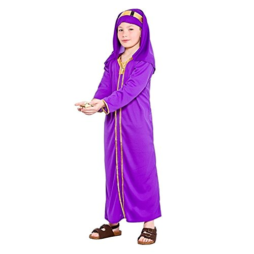 Wise Man Costume Uk (Childs Nativity Wise Man Melchior Christmas Fancy Dress Costume)