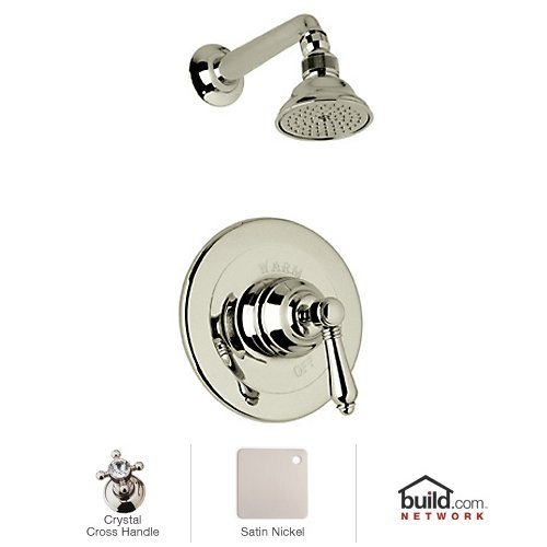 Rohl AKIT31XC-STN Country Bath Shower Package in Satin Nickel with Cry