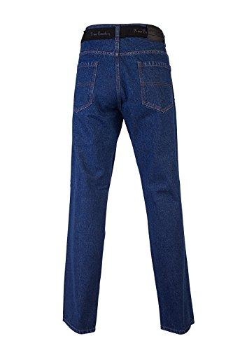 E Uomo Classica Cintura Cardin Mid Tasche Con 5 Rilassata Pierre Vestibilità Solid Jeans TqSYFUwf