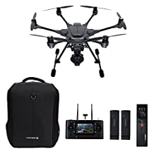Yuneec Typhoon H Pro with Intel RealSense Technology - Ultra High Definition 4K Collision Avoidance Hexacopter Drone with 2 Batteries, ST16 Controller, Soft Backpack and Wizard