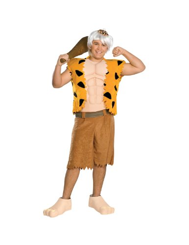 Pebbles And Bam Bam Adult Costumes - The Flintstones Bamm-Bamm Teen Costume, Brown,