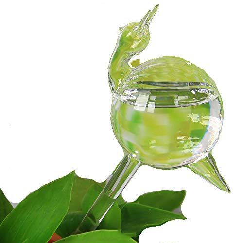 TIMESFRIEND for Potted Plant Mini Size Self-Watering Stakes Drippers Drip Irrigation Watering Cans Ornaments Decoration Glass Automtic Plant Waterer Auto Water Plants (1PC Snail)