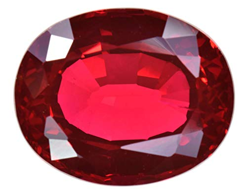 (uGems Synthetic Ruby Large Oval Facet Pigeon Blood Red (16 Millimeters))