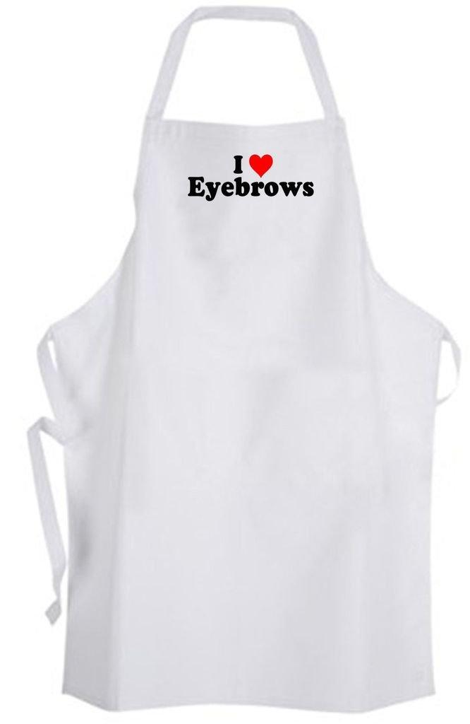 I Love Eyebrows – Adult Size Apron – Spa Threading Beauty