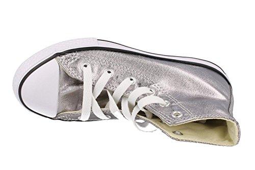 ConverseCt Bb Animal Hi - Zapatillas Unisex, para niños Plateado