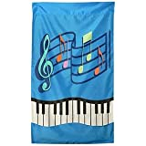 "Music Staff & Keyboard Outdoor Flag (48""X24"")"