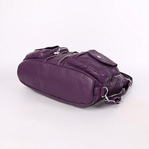 Petites Sac à Epaule Poches à Bandoulière 8 Femmes Couche Angelkiss Violet Double AK678 Cuir Dos Pour Main Sac Filles g1x5g7q