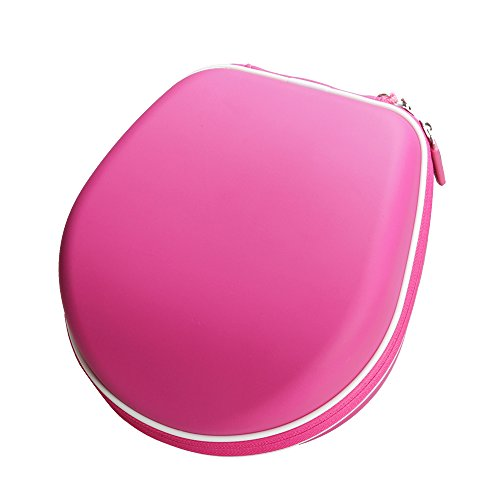 Hermitshell Travel Case Fits Shopkins/Barbie/Hello Kitty/Monster High/Supergirl Large Kids Safe Over The Ear Headphone (Hot Pink)