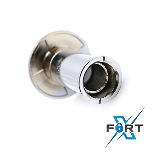 Adjustable Peep Hole to Accommodate 35-50mm Door Thickness 180/° Wide Angle Spy Hole XFORT/® Door Viewer Polished Chrome Ideal Security for Main Door Caller Identification Polished Chrome