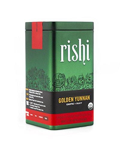 Rishi Tea Organic Golden Yunnan Loose Leaf Tea, 2.29 Ounces Tin - Golden Yunnan Black Tea