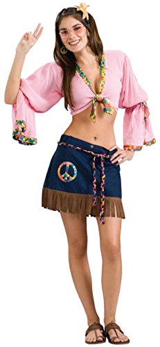 [Forum Novelties Women's Generation Hippie Sexy Hippie Chickie Costume, Multi, One Size] (60s Inspired Costumes)