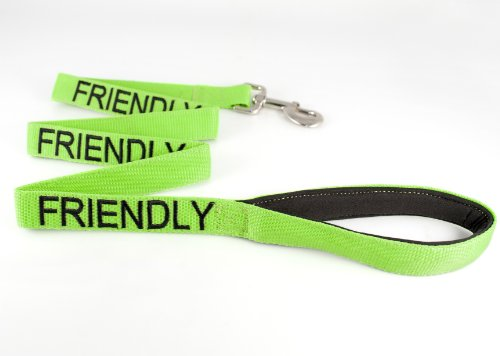 """FRIENDLY"" Green Color Coded 47″L Dog Leash (Known As Friendly) PREVENTS Accidents By Warning Others of Your Dog in Advance!, My Pet Supplies"