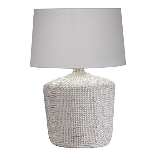 Ethan Allen Seneca Woven Table Lamp, White (Table Style Woven Lamps)