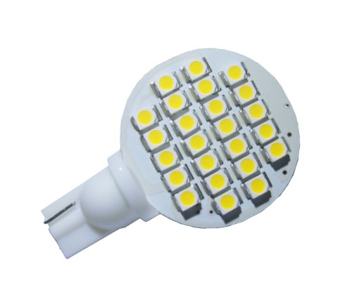 Grv T10 921 194 24-3528 SMD LED Bulb lamp Super Bright Warm White AC/DC 12V -28V Pack of 10