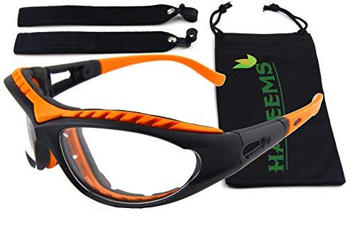 Onion Goggles Tear Free – Anti Fog – Anti Scratch – One Size Fit All – Stylish Orange Glasses for Cutting and Cooking – Onion Mask Cooking Goggles