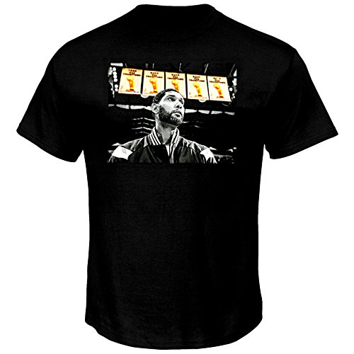 Youth Big Time T-shirt - Majestic Tim Duncan San Antonio Spurs NBA Youth Player Banner T-Shirt (Youth XLarge 18)