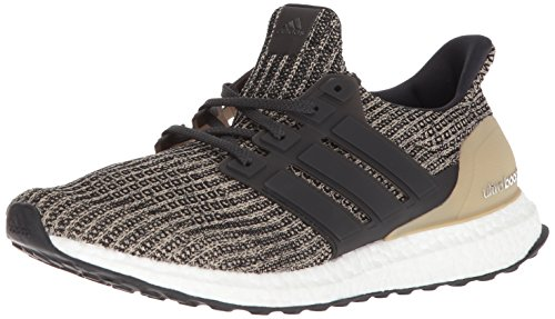 adidas Men's Ultraboost, Black/Black/Raw Gold, 9 M US
