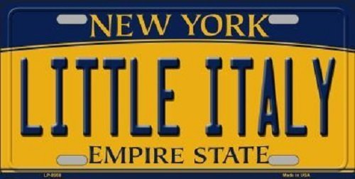 Nicholas Dunlop Little Italy New York Background Novelty Metal License Plate by Nicholas Dunlop