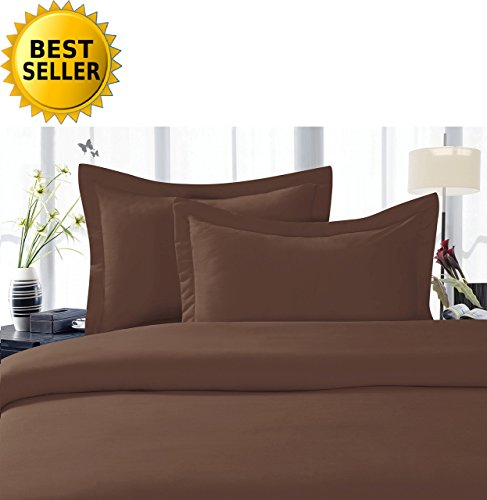 Chocolate King Duvet Cover - Celine LinenBest, Softest, Coziest Duvet Cover Ever! 1500 Thread Count Egyptian Quality Luxury Super Soft WRINKLE FREE 3-Piece Duvet Cover Set , King/Cali King, Chocolate Brown