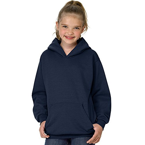 Hanes boys Youth ComfortBlend EcoSmart Pullover Hoodie(P473)-Navy-L