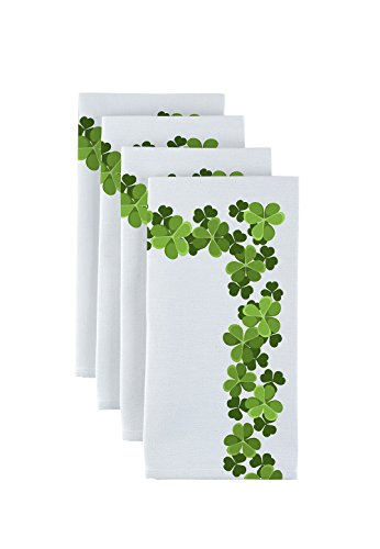 Fabric Textile Products Clover Garland Border Napkins 18