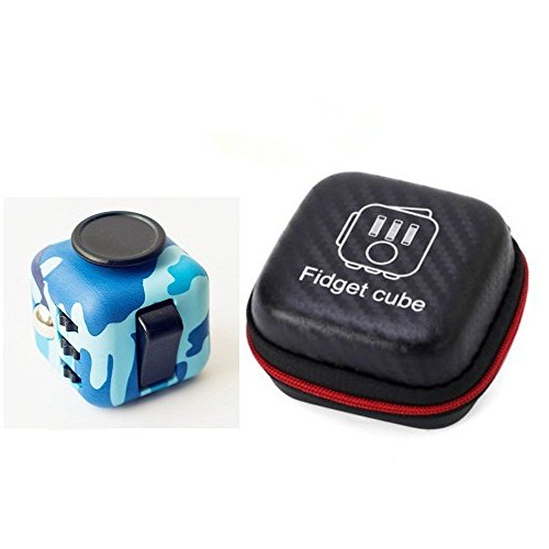 Antikue Fidget Cubes With Case Stress And Anxiety Reliever for Children and Adults (Camo Blue) for cheap