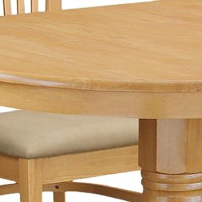 East West Furniture VANC7-OAK-C 7-Piece Dining Table Set