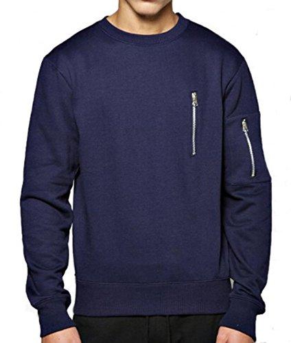 Misakia Men's Outdoor Active Sweatshirt Advantage Performance Solid Crew Fleece Navy Blue XL - Advantage Pullover