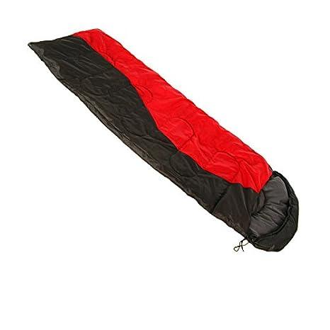 Diseño de camping Outdoor - Saco de dormir para adultos/SE pueden gespleißt Saco de dormir doble/Otoño y Invierno/Dick/Ampliación de red Lucha Negro: ...