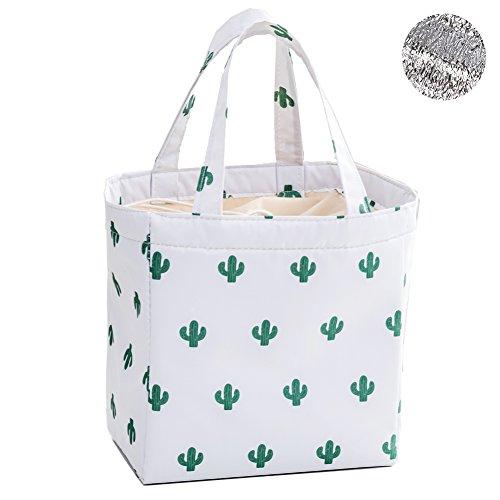 Artone Cactus Oxford Drawstring Reusable Lunch Bag Insulated