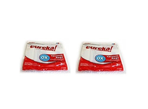 Eureka / Electrolux Canister Oxygen Type OX & S Paper Bags OEM 6 Bags 2 Qunty # 61230F-6,61230F