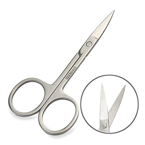 happy- little -bear Eyebrow Scissors Trimmer Professional Brow Trimmers for Thick or Thin Hair Cosmetology Home or Travel Use