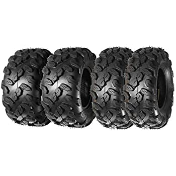 Set of 4 26x9x12 26x11x12 6 Ply ATV//UTV Tires 26 x 9-12 Front /& 26 x11-12 Rear