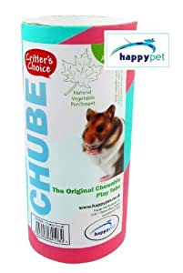 Critters Choice Small Animal Chube Small ( The original chewable play tube..Features: For Hamsters, Gerbils, Mice and other small furries.. Satisfies your pet's desire to seek shelter and gnaw. Natural vegetable parchment. Includes bedding. Approximate Measurements: (L) 15cm (D) 7cm. ...) by N/A