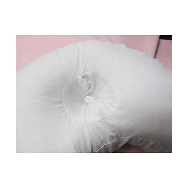 Bluelover U-Forme PP Coton Oreiller Blanc Côté Dormeur Appui-Tête Voyage Anti-Ronflement Coussin Mou