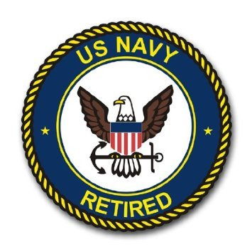 Navy Retired Decal - US Navy Retired Emblem Decal Sticker 5.5