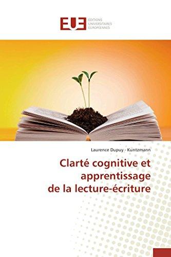 Clart cognitive et apprentissage de la lecture-criture (Omn.Univ.Europ.) (French Edition)