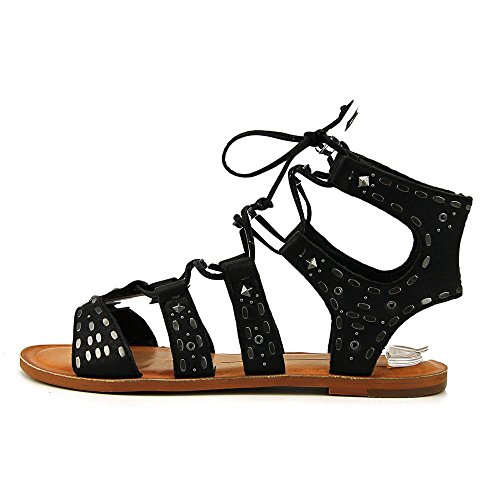 Dolce Vita Jazzy Open Toe Leather Sandals Black Leather 3KidX94
