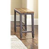 Steve Silver Ashford Chairside End Table in Antiqued Honey