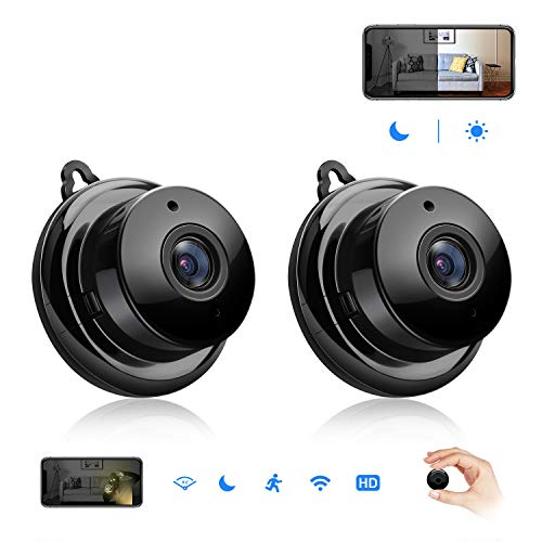 Mini Spy Hidden Camera,Isotect HD 720p Nanny Cam,Wireless WiFi Security Camera for Home Office with Two-Way Audio,Night Vision and Motion Detection(2 Pack)