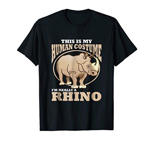 My Human Costume Wildlife Conservation Shirt Save The Rhino ()
