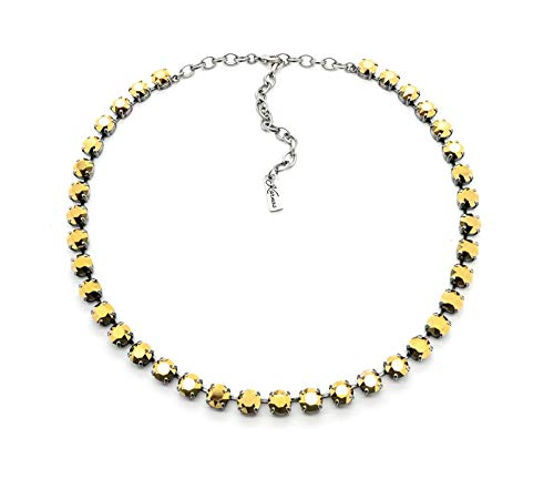 ALL IS BRIGHT 8mm Crystal Chaton Necklace Made With Swarovski Elements *Pick Your Finish *Karnas Design Studio
