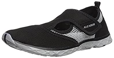 Aleader Men's Quick-dry Slip On Water Shoes Black/Gray 7 D(M) US