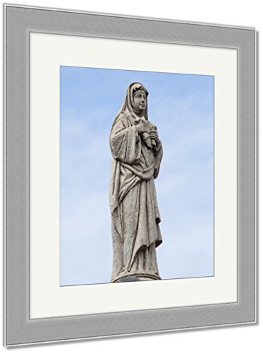 Ashley Framed Prints Statue In The Courtyard Of The Old Catholic Church Of The Basilica Del Santo, Wall Art Home Decoration, Color, 30x26 (frame size), Silver Frame, AG5975455 by Ashley Framed Prints