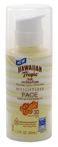 - Hawaiian Tropic Silk Hydration Spf#30 Face 1.7 Ounce Weightless (50ml) (2 Pack)