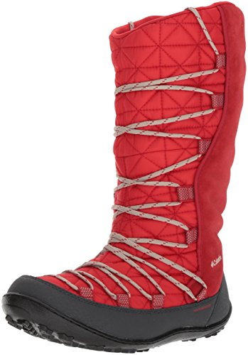 - Columbia Unisex Youth Loveland Omni-Heat Snow Boot, Bright Red, Ancient Fossil, 4 M US Big Kid